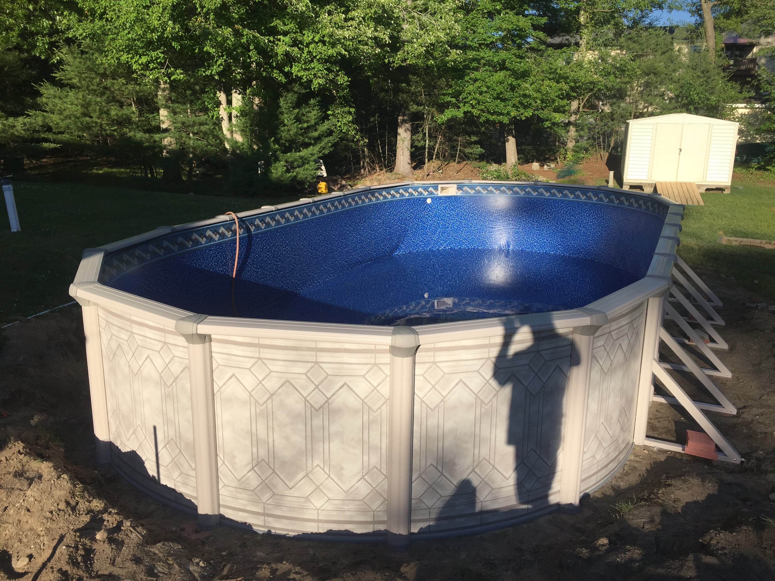 Above Ground Oval Swimming Pool Installation Aquarian Pool Spa